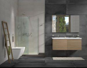 černá barva v koupelně